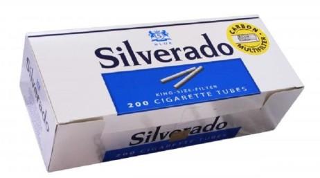 Tuburi tigari Silverado Multifilter, albastre cu carbon activ