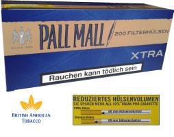 Tuburi tigari Pall Mall blue Xtra pentru injectat tutun