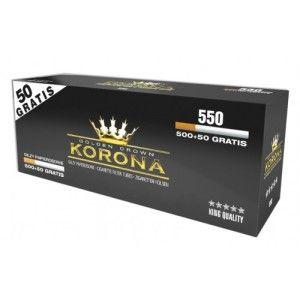 Tuburi tigari Korona 550 pentru injectat tutun vrac in tuburi tigari