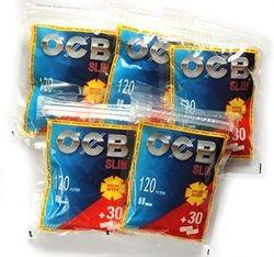 Filtre OCB Slim pentru rulat tutun pachet promo 120+30 filtre gratis