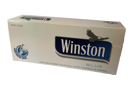 Tuburi tigari Winston albastru carbon Black Friday promotie