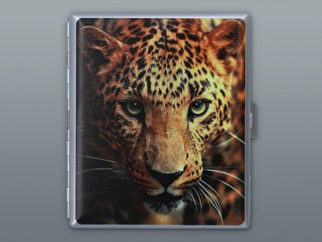 tabachera cu imagine leopard